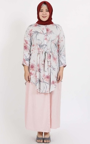 Pink Flower Tunic
