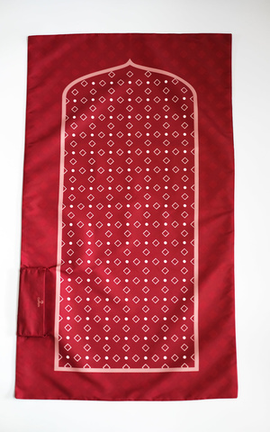 Sajadah Travel Maroon Pattern BIG