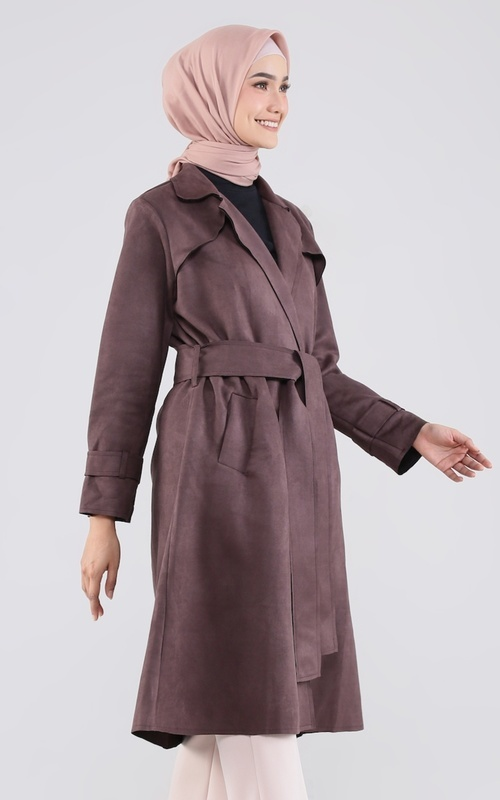 Coat - Kamila Coat Dark Brown - Dark Brown