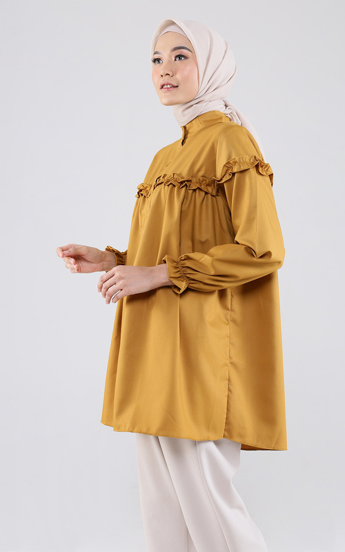 Blouse - Samira Top 2 - Mustard