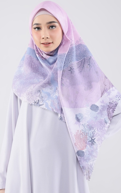 Printed Scarf - Andine Scarf for HIJUP - Multicolor