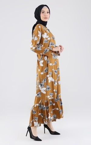 Santay Dress - Brown FL