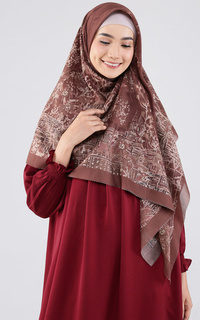 Printed Scarf The British Voal Square XL - Brown
