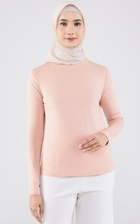 Inner Shirt Everyday High Neck Inner Peach