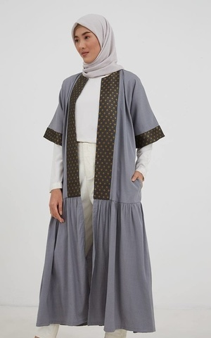 Barina Ethnic Outer Grey