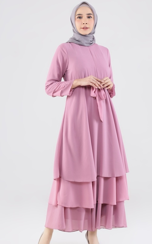 Long Dress - Shanum Dress - Dusty Purple