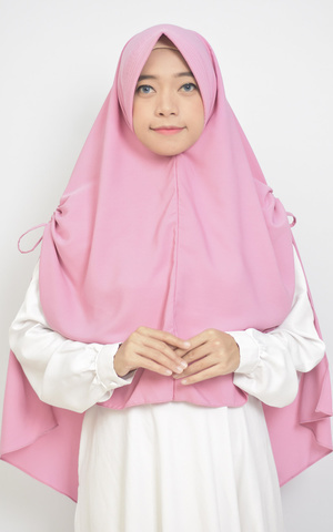 Zalina Khimar Tali Serut Hijab Instan Syari with Pad