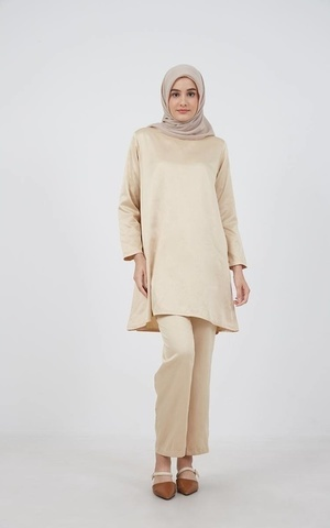 Barliana Tunic Saten Cream