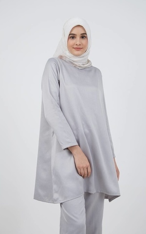 Barliana Tunic Saten Grey