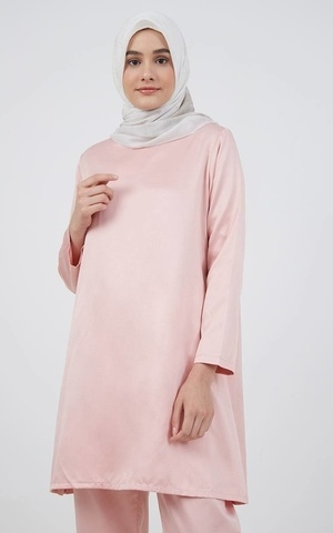 Barliana Tunic Saten Peach