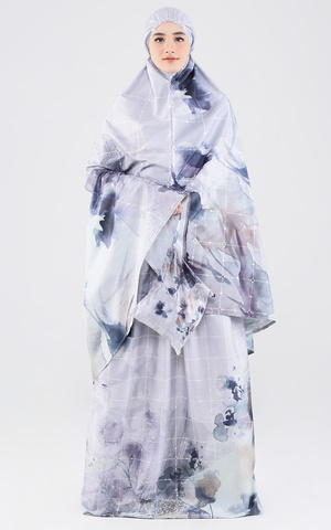 Mukena Satin Hirumi Grey