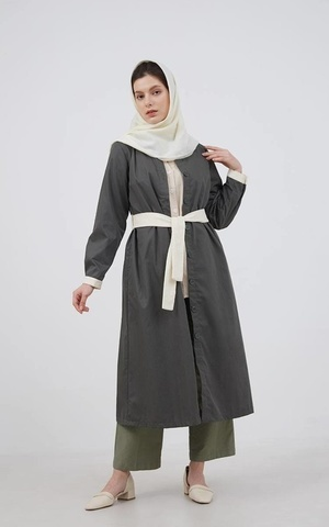 Berrybenka Modest - Frisca Basic Outer Green