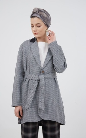 Berrybenka Modest - Harlie Combination Coat Grey