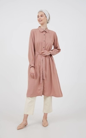Haywine Shirt Dress Dusty Pink
