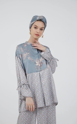 Berrybenka Modest - Beriza Top Blue