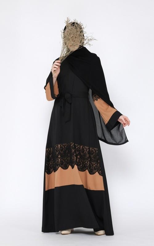 Long Dress - Dress Gamis Abaya Ceyda - Brown