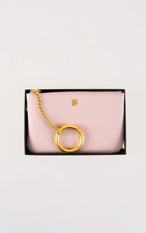 The Amy Short Wristlet - Dusty Pink