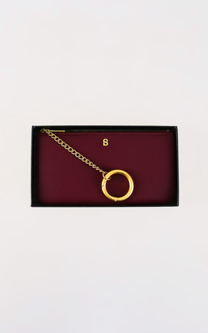 The Amy Long Wristlet - Maroon