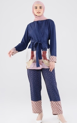Lounge Wear - Floral Navy