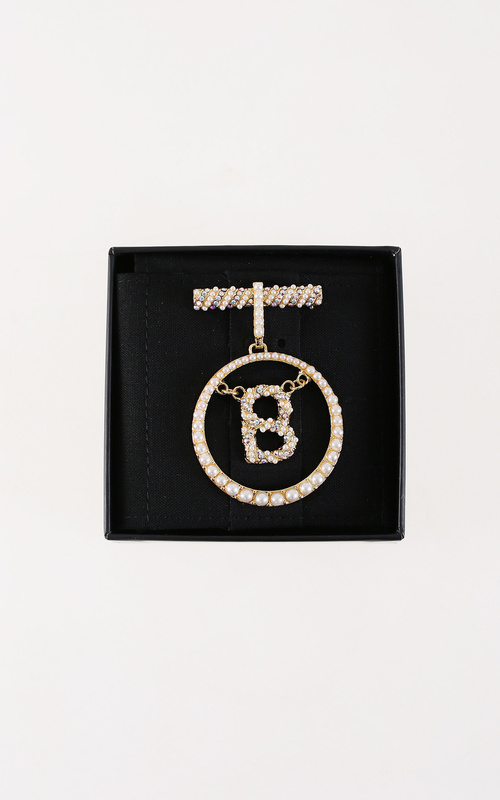 Brooch - Luxe Signature Hanging Brooch - Gold