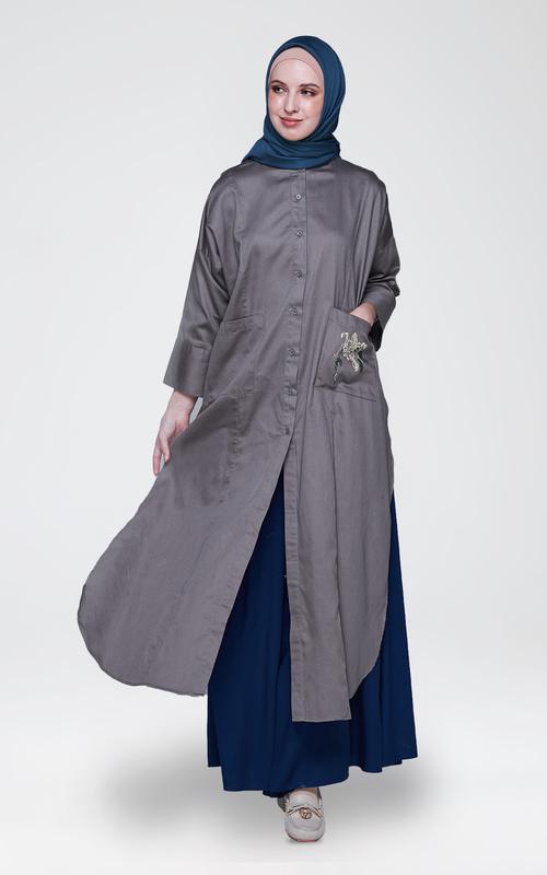 Tunic - New Alocia Long Tunic  - Grey