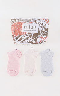 Kaos Kaki Pastel Ankle Socks Trio Set