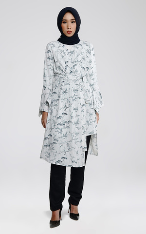 Printed Asymmetrical Tunic
