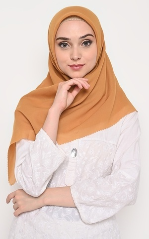 Hijab Segi 4 Double Haikon Lasercut