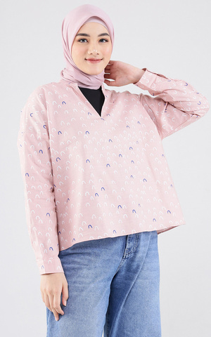New Pink Printed Calin