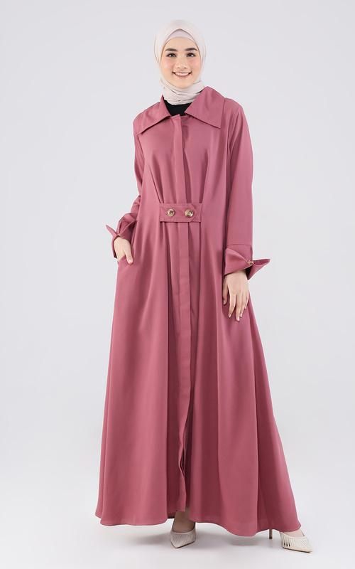 Long Dress - Fayya Dress - Dusty Pink