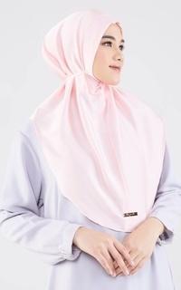Instant Hijab Ara Silky Bergo - Pink