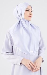 Instant Hijab Ara Silky Bergo - Grey
