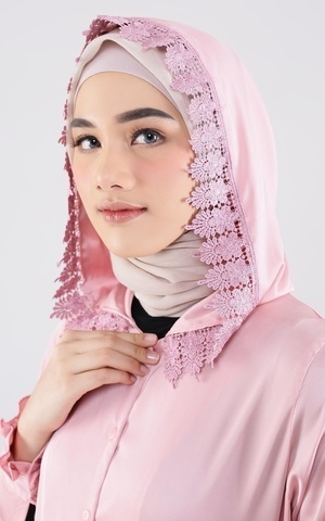Laura Abaya Praying Set Pink