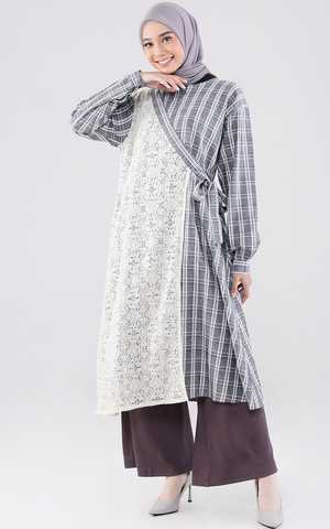 Elenita Tunic Plaid