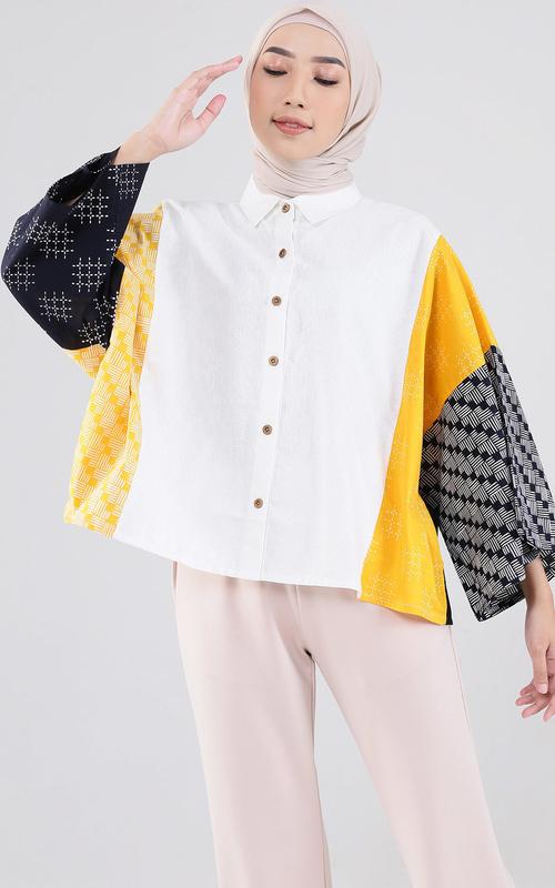Blouse - Kamiko Batik Gribik - Yellow