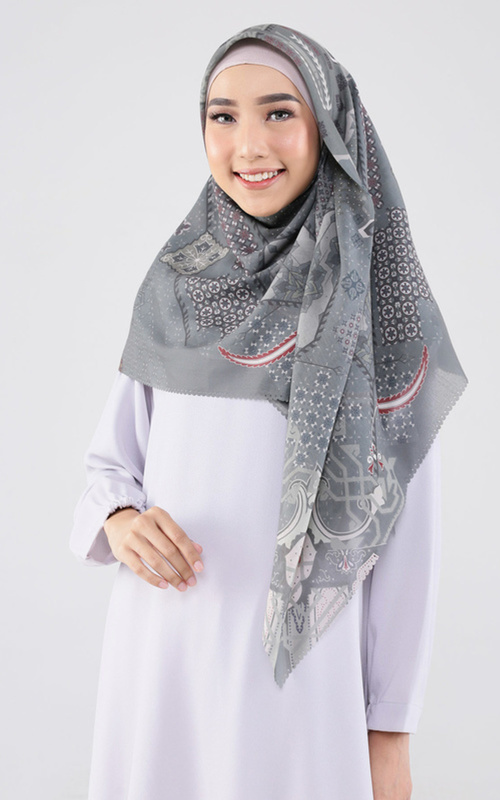 Printed Scarf -  Maheen Scarf for HIJUP - Multicolor