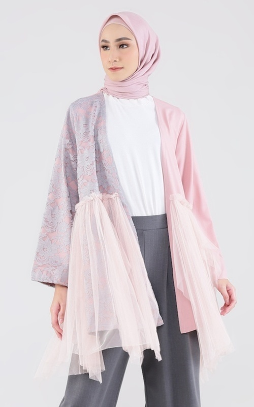 Cardigan -  Rory Outer for HIJUP -  Dusty Pink