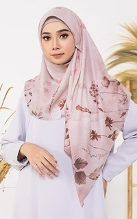 Printed Scarf Dried Flower Dusty Pink