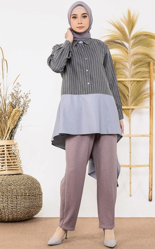Blouse - Tully Top - Grey
