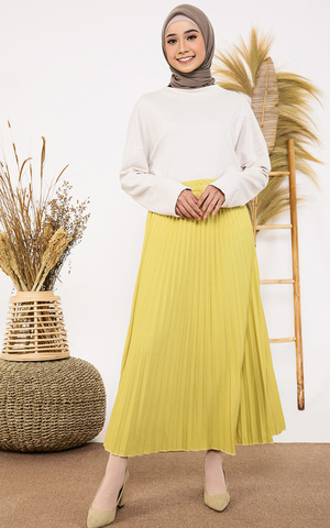 Pleats Skirt Pastel