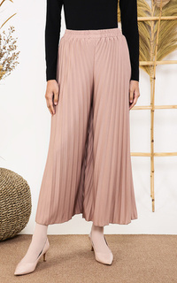 Celana Pleats Cullote Pastel
