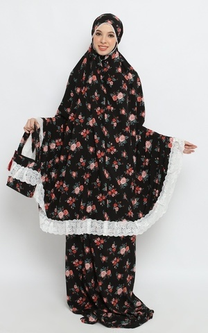 Mukena Cotton Silk Aisyah (Black)
