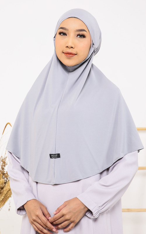Instant Hijab - Sona Bergo - Light Grey