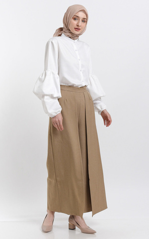 CREAM DURRIYA PANTS