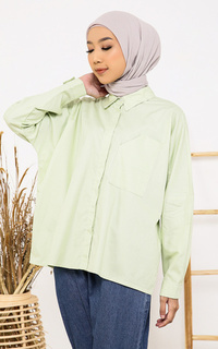 Kemeja Light Green Devon