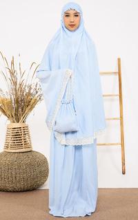Praying Set Tiara 443 Afida Sabira Blue