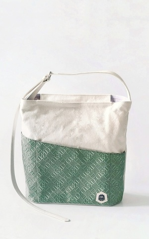Olive Green Dinnaro Strap Tote Bag