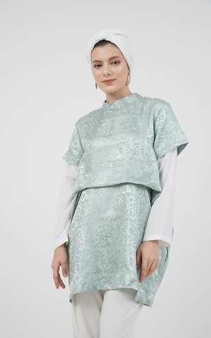 Roula Tucked Drape Tunic Green
