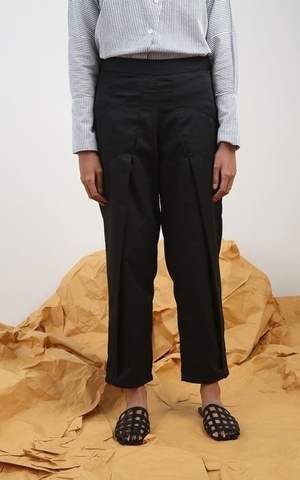 Marva Layered Pants Black