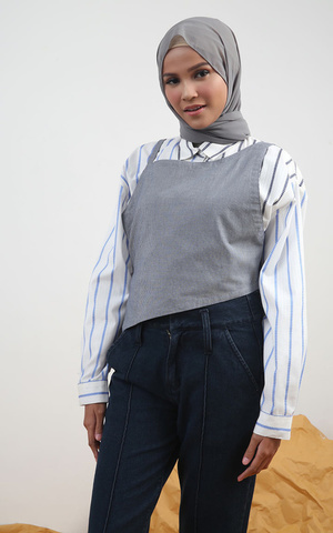 Maryal Stripes Combine Outer Blue